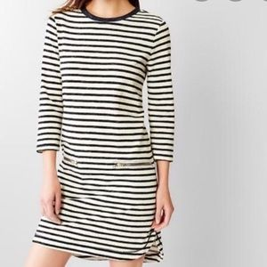 Gap | White/Navy Striped Dress | Small